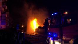 Słup ognia w Warszawie