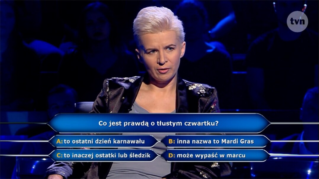 Tłusty czwartek w pytaniu za 40 tysięcy złotych