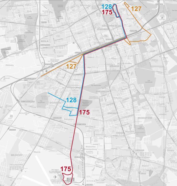 Trasa linii 175 ZTM