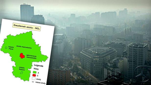 Zanieczyszczone powietrze nad Warszawą WIOŚ / MJN