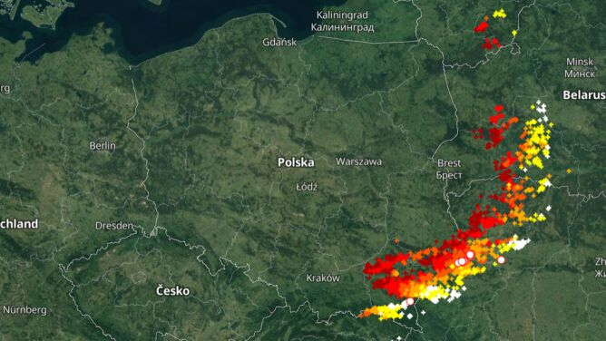 Sprawdź, gdzie jest burza