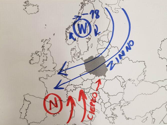 Masy powietrza nad Europą