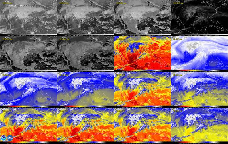 Zdjęcia Ameryki Północnej w podczerwieni