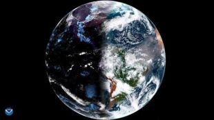 Równonoc wiosenna z perspektywy kosmosu