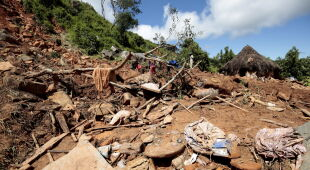 Zniszczenia w Afryce po przejściu cyklonu (PAP/EPA)